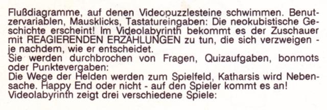 VLAB Text: Ausschnitt Katalogseite EMAF 88